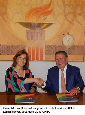Carme Martinell, directora general de la Fundació IDEC i David Moner, president de la UFEC