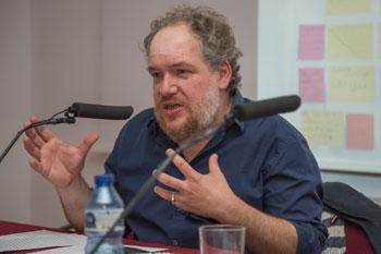 Mathias Énard en la lección inaugural del máster