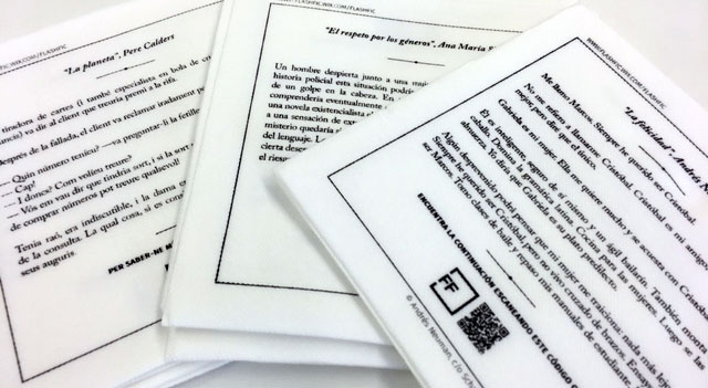 servilletas, literatura, edicion