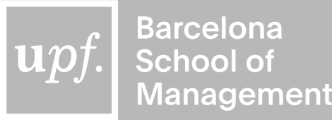 UPF Barcelona School of Management logo NEGATIVE