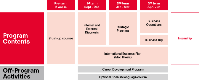 MSc in International Business Program Contents