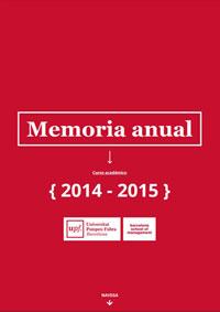 Memoria anual 2014-15